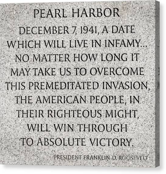 Franklin D. Roosevelt Canvas Print - Pearl Harbor Speech - Franklin Delano Roosevelt by Gary Whitton