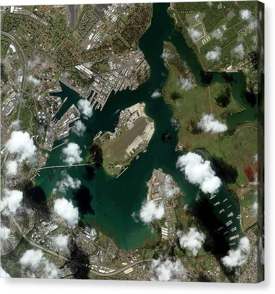 Pearl Harbour Canvas Print by Geoeye/science Photo Library