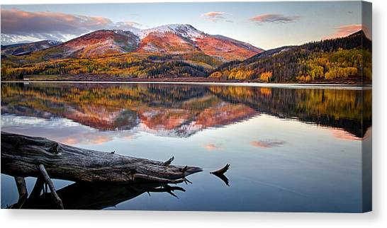 Pearl Lake Sunset Panorama 1 Canvas Print