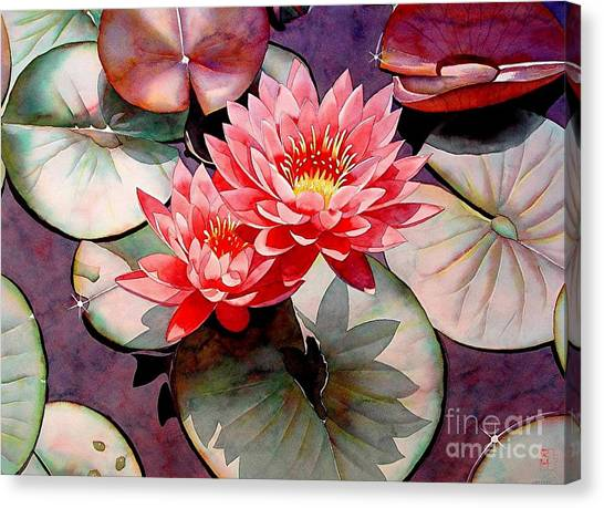 Wetlands Canvas Print - Pearls Of The Pond by Robert Hooper