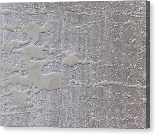 Lyrical Abstraction Canvas Print - Pearlwhite And Linen by Sora Neva