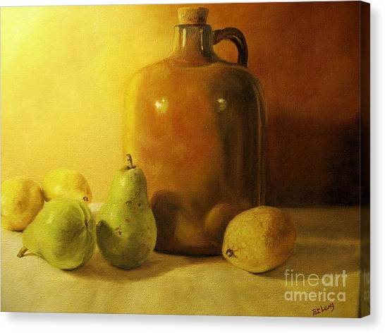 Pears And Lemons Canvas Print
