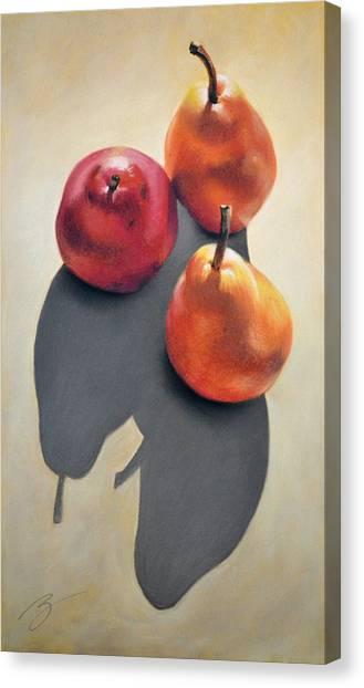 Pears Pastel Canvas Print