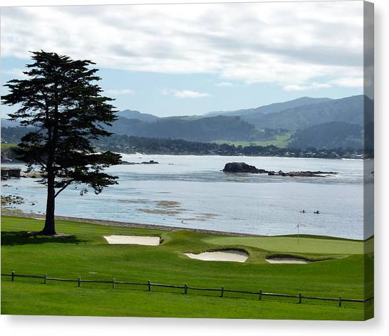 Pebble Beach 18th Green Carmel  Canvas Print