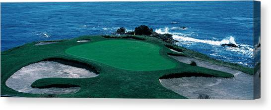 Golf Course Canvas Print - Pebble Beach Golf Course 8th Green by Panoramic Images