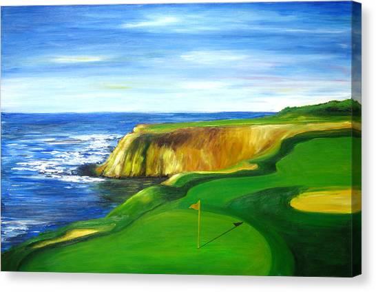 Pebble Beach Golf Course Canvas Print