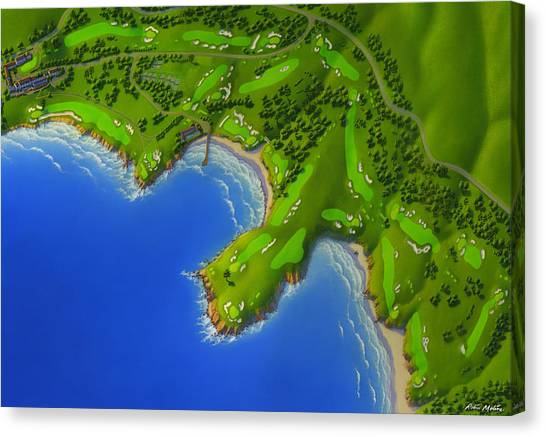 Courses Canvas Print - Pebble Beach Golf Course by Robin Moline