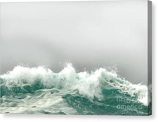 Pebble Beach In The Fog Canvas Print