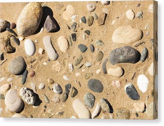 Pebbles On Beach Pattern Canvas Print