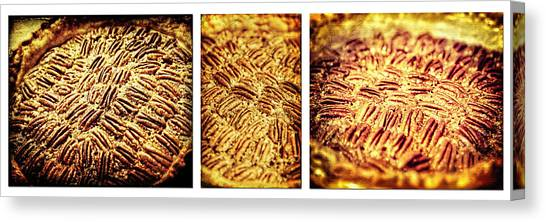 Pecan Pie Nostalgia Triptych By Lincoln Rogers Canvas Print