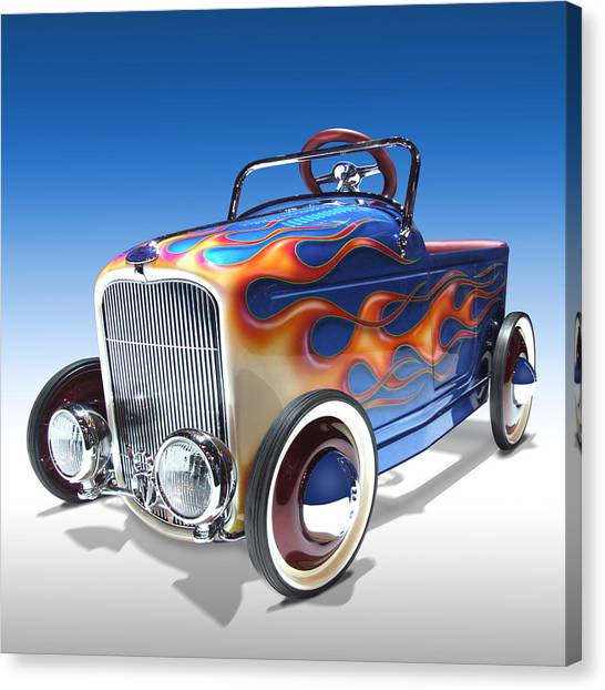 Peddle Car Canvas Print