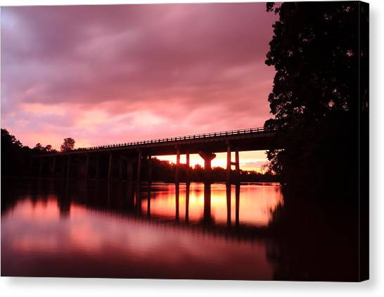 Pee Dee Sunset Canvas Print