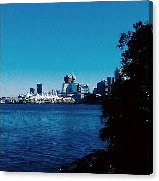 Vancouver Skyline Canvas Print - Peek-a-boo, I See You #vancity by Glenny S