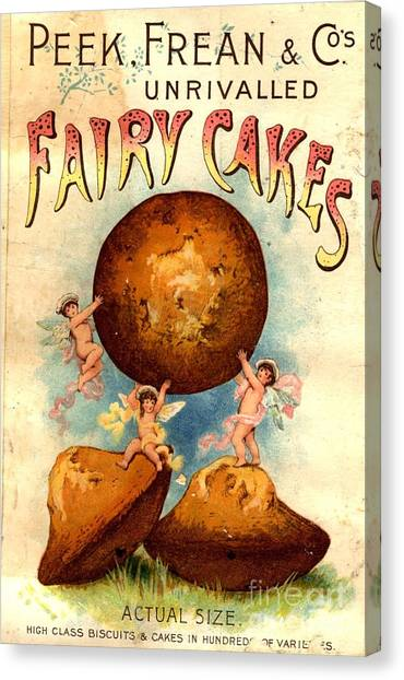 Peek, Frean And Co 1890s Uk Fairy Cakes Canvas Print by The Advertising Archives