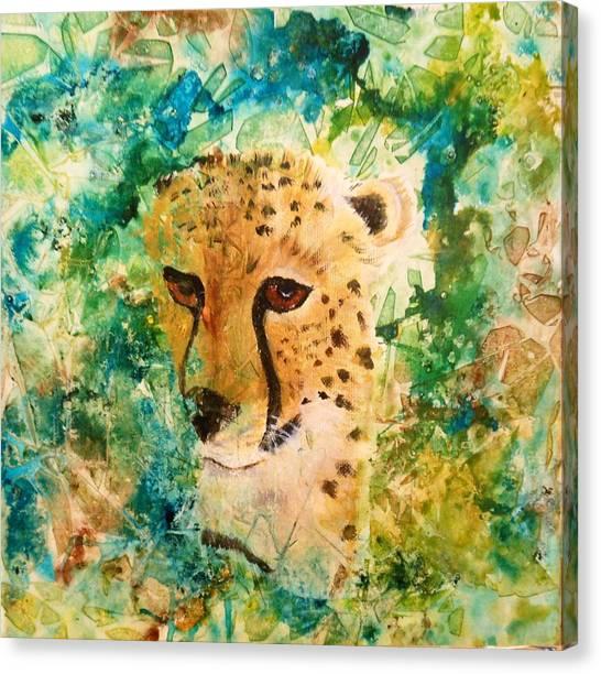 Peeking Beauty Canvas Print
