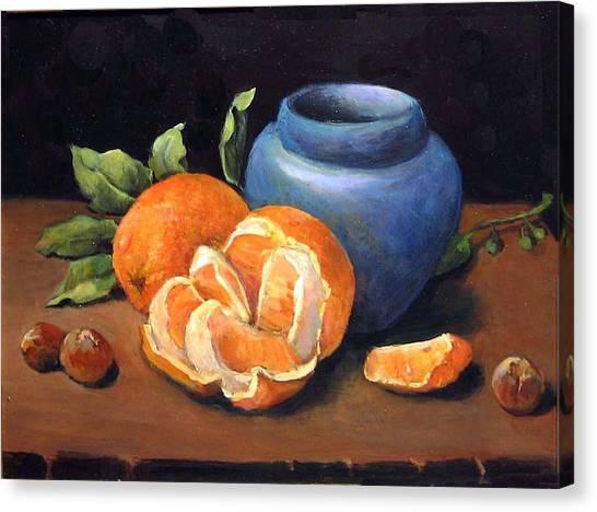 Peeled Orange Canvas Print
