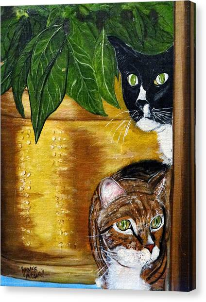 Peeping Tommy Canvas Print