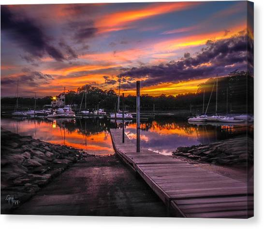 Peering At The Sunset Canvas Print
