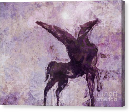 Pegasus Canvas Print - Pegasus Antique by Lutz Baar
