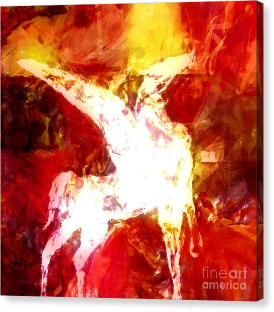 Pegasus Canvas Print - Pegasus Glow by Lutz Baar