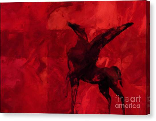Pegasus Canvas Print - Pegasus Red by Lutz Baar