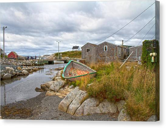 Nova Scotia Canvas Print - Peggy's Cove 12 by Betsy Knapp