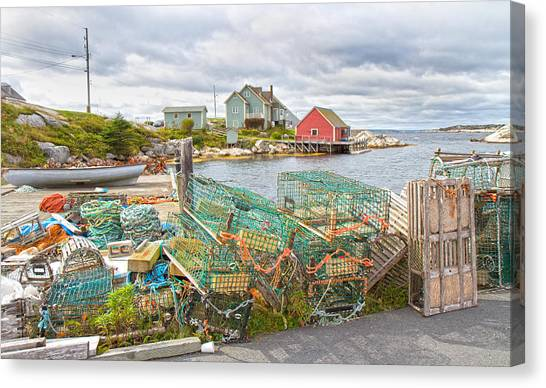 Nova Scotia Canvas Print - Peggy's Cove 5 by Betsy Knapp