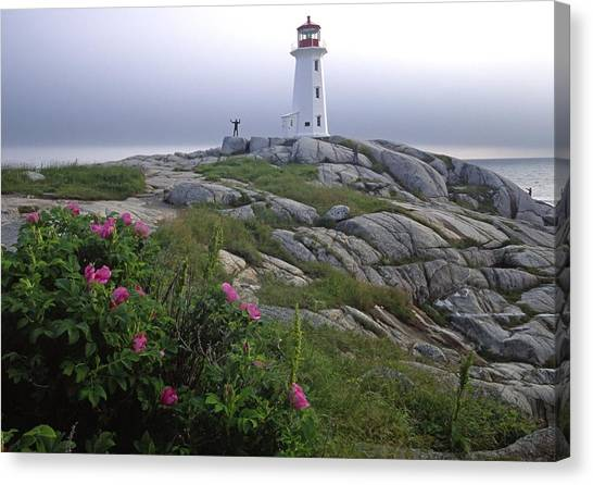 Peggy's Cove Lighthouse Nova Scotia Canada Canvas Print