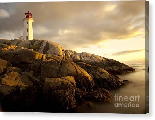 Peggys Cove Lighthouse Nova Scotia Canvas Print