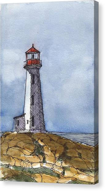Nova Scotia Canvas Print - Peggy's Cove Lighthouse by Tim Oliver