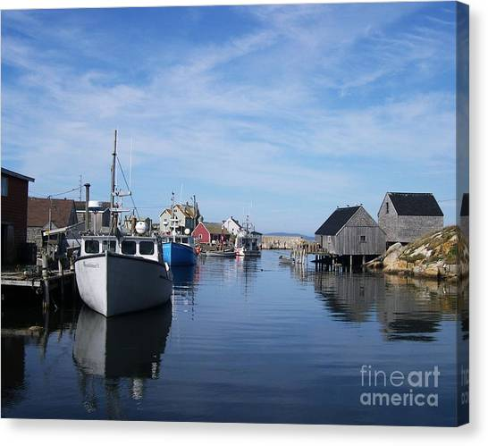 Canvas Print featuring the photograph Peggys  Cove by Mel Steinhauer