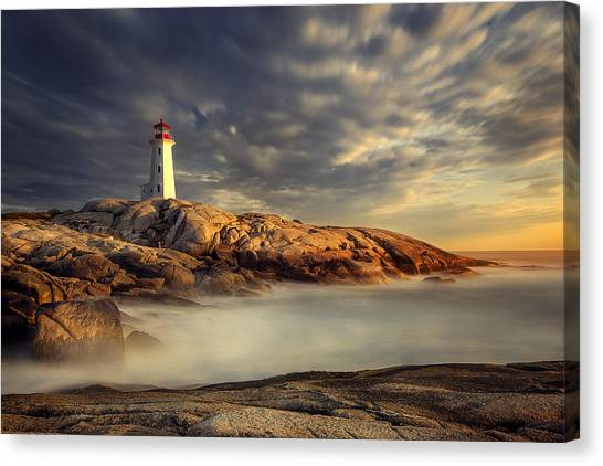 Nova Scotia Canvas Print - Peggy's Cove Nova Scotia by Magda  Bognar