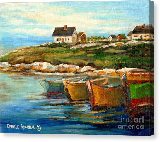 Peggys Cove With Fishing Boats Canvas Print
