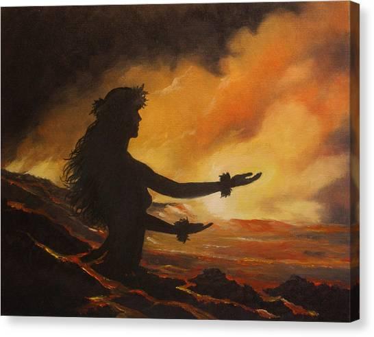 Pele Canvas Print - Pele Rejoicing by Wallace Kong