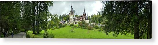 Pele Canvas Print - Peles Castle In The Carpathian by Panoramic Images