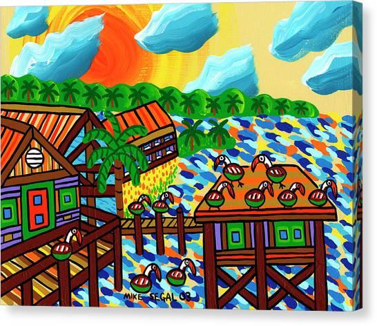 Pelican Convention Cedar Key Canvas Print