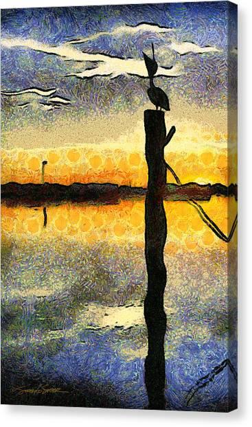 Pelican Stretch Canvas Print