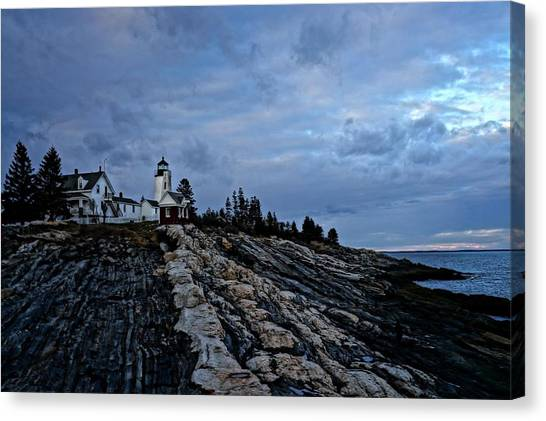 Pemaquid Lighthouse Canvas Print by Melissa C