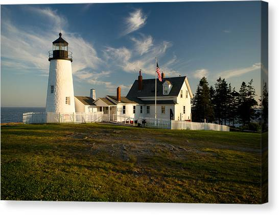 Pemaquid Point Lighthouse At Sunset Canvas Print