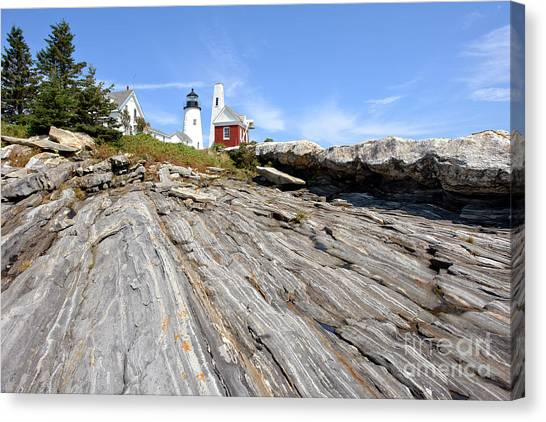 Pemaquid Point Canvas Print - Pemaquid Point Lighthouse In Maine by Olivier Le Queinec