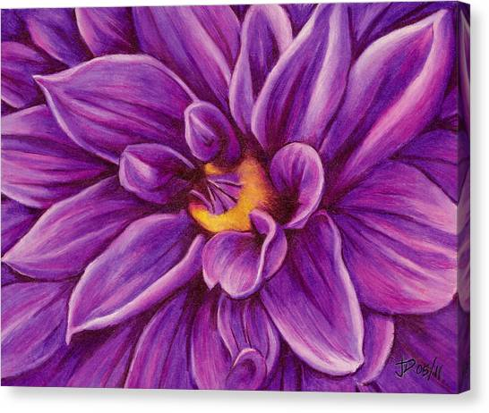 Pencil Dahlia Canvas Print