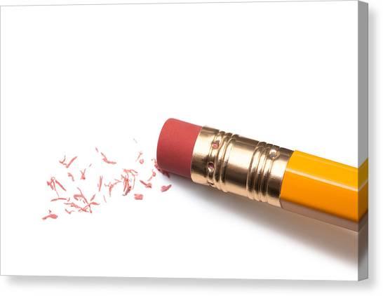 Pencil Eraser Canvas Print by T_kimura