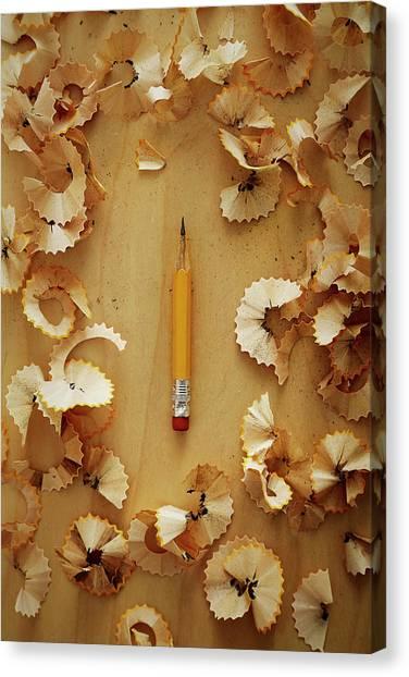 Pencil Sharpened Down To A Stub Canvas Print by Joseph Clark