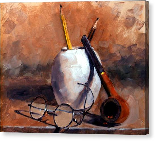 Canvas Print - Pencils And Pipe by Jim Gola