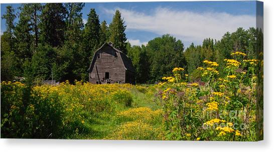 Pend Oreille Barn Canvas Print
