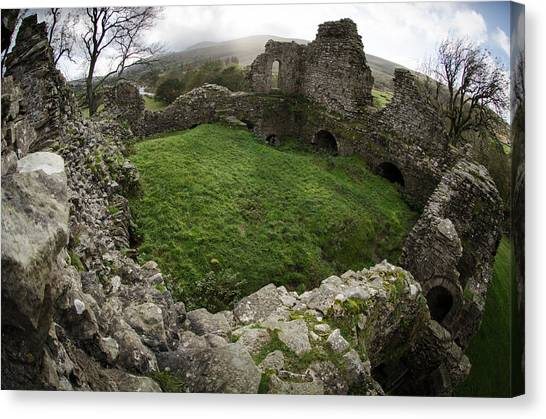 King Aurthur Canvas Print - Pendragon Castle by Roger Clifford
