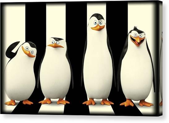 Penguins Of Madagascar Canvas Print