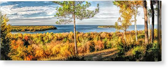 Peninsula State Park Scenic Overlook Panorama Canvas Print
