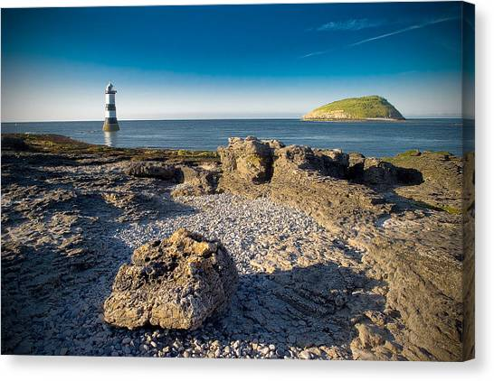 Penmon Lighthouse And Puffin Island Canvas Print