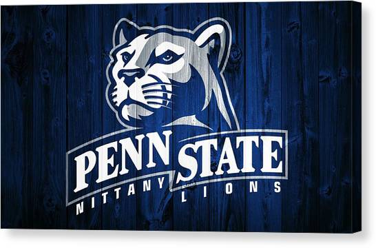Pennsylvania State University Canvas Print - Penn State Barn Door by Dan Sproul